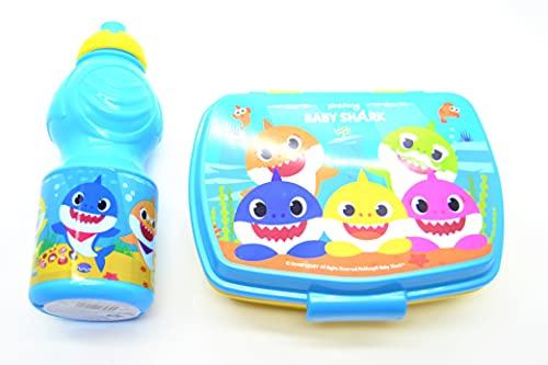 (Baby Shark) TIBURÓN BEBÉ niños bebés almuerzo cena caja comida escolar y botella de refrescos