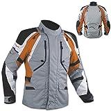 Giacca Offroad Enduro Moto Turismo Impermeabile Tessuto Protezioni Arancione L
