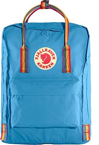 Fjällräven Unisex-Adult Kånken Sports Backpack, Air Blue-Rainbow Pattern, One Size