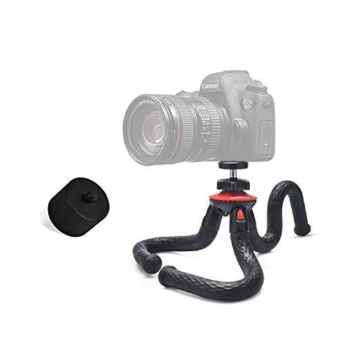 Lammcou Kamera Flexibel Stativ, Octopus Gorrila Ministativ Handstativ mit Metal Stativkopf, Kleines Reisestativ für Camera Wildkamera Halterung Tripod