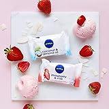 NIVEA Strawberry & Milk Pflegeseife (1 x 90 g), cremige Seife mit verwöhnendem Erdbeerduft, Handseife als Schutz und für hygienisch saubere Hände - 5