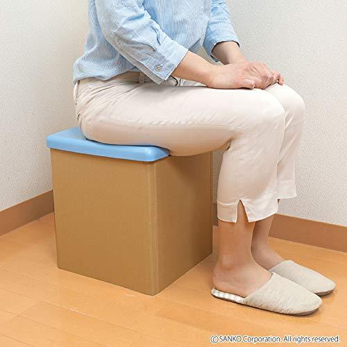 『サンコー 非常用 簡易トイレ 日本製 組み立て簡単 耐荷重120kg 携帯 R-58』の4枚目の画像