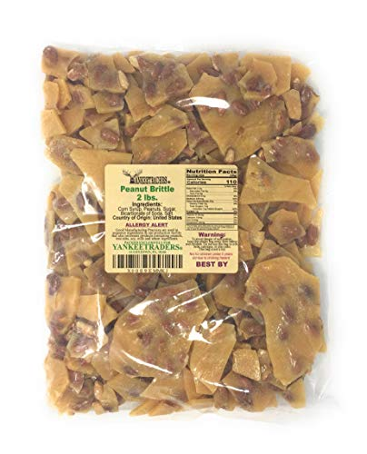 Yankee Traders Brand Home Style Peanut Brittle Candy, 2 Pound