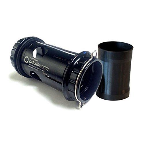Praxis Negro PEDALIER CONVERSOR 68mm Road Campy ULTRQ CONVBB30/PF30, Adultos Unisex, ESTANDAR