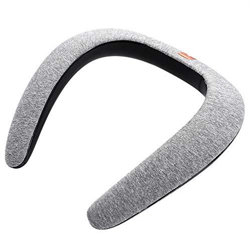 Altavoz del Bluetooth de la Banda para el Cuello Altavoz inalámbrico portátil montado en el Cuello del Babero Estéreo Altavoces Integrados incorporados para Deportes al Aire Libre Aptitud