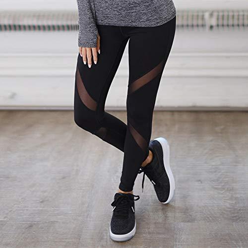 CXKNP Yoga Broek Running Broek Sneldrogende Mesh Net Yoga Broek Zwart Hoge Taille Elastische Fitness Slim Sport Broek Gym Leggings