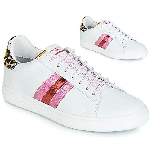 Serafini J.Connors Sneaker Damen Weiss/Gelb/Rose - 36 - Sneaker Low