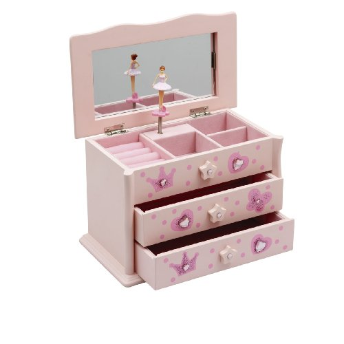 Katz Dancewear Girls Ballet Dance Pink Jewellery Music box By JB-01 Christmas Birthday