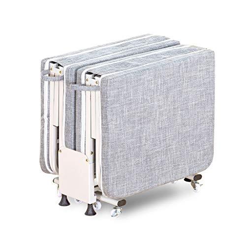 UCYG Cama Canapé Abatible Plegable para Invitados,Armadura De Metal Butaca Sofa con Colchón 1 Plazas para Camping Piscina Jardín, 200 Kg De Carga, 200x75x33cm