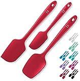 DI ORO 3-Piece Silicone Spatula Set – Non-Scratch Rubber Scraper Spatulas for Nonstick Cookware...