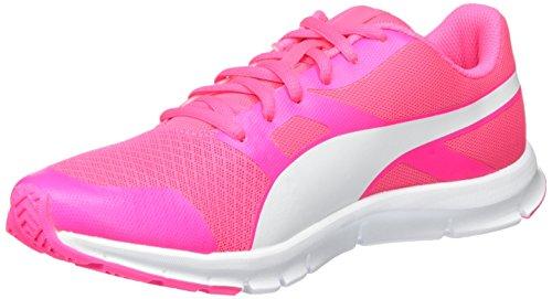 Puma Flexracer Scarpe da ginnastica, Basse, Unisex – Adulto, Rosa (Knockout Pink-Puma White 24), 41
