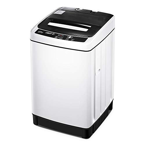 Kealive Portable Washing Machine, 1.54 Cu.Ft Compact Washer and Dryer Combo 11 lbs Capacity Fully Automatic Laundry Washer with Drain Pump and Long Hose for Apartments,Home, Dorms