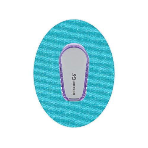 Fixierung für Dexcom G6 Sensoren - original RockTape - Tapes Pflaster Patches - blau Größe 10 Stück