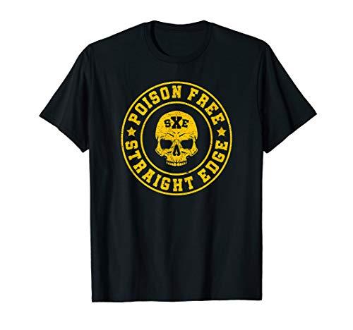 poison free skull crew straight edge t-shirt