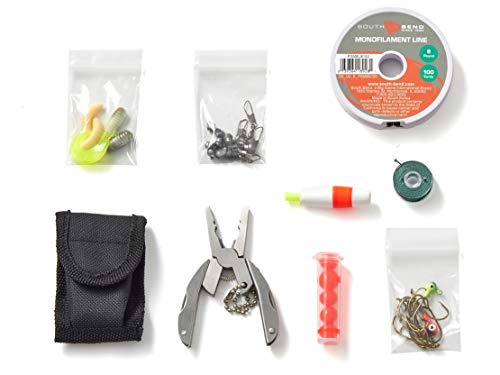 OFF GRID TOOLS Mini Fishing B.O.S.S Bug Out Bag Survival Fishing Kit. 45 Piece Fishing Kit