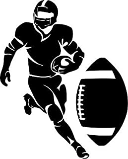 Large Silhouette Vinyl Football Wall Decal (Player) (Black)