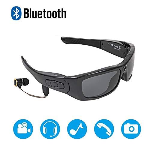 Bluetooth sunglasses camera, full HD 1080P digital camera video recording motion polarizing glasses