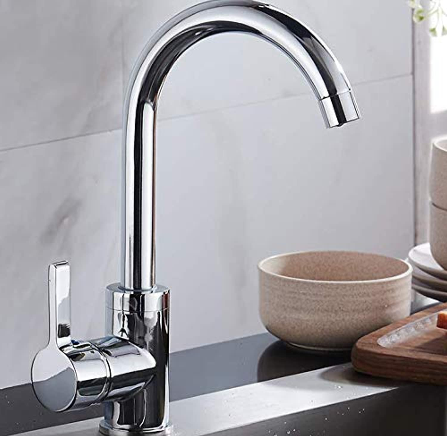 Kitchen Faucet Copper hot and Cold redating Faucet Household Stainless Steel Sink Universal Faucet Sink Faucet