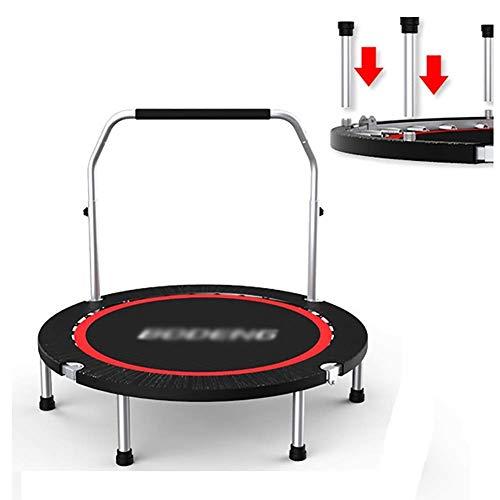 Trampoline met leuning, opvouwbare Fitness 40 inch Mini Bouncing Bed voor kinderen volwassenen, draagbaar voor buiten/binnen/tuin
