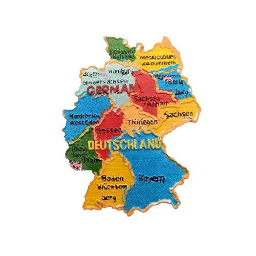 Imán 3D para nevera con diseño de mapa de Alemania, regalo para decoración del hogar y la cocina, imán magnético para nevera