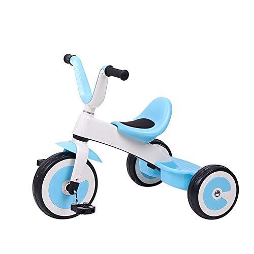 GYF Plegables Triciclo Triciclo de niños Inflable al Aire Libre de un Montaje Sencillo 2-6 años de Edad, Gran Triciclo de Manera Ligera Silla de Paseo 56x70x31cm (Color : Blue)