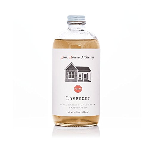 Pink House Alchemy Lavender Syrup - 16 oz Simple Syrup Cocktail Drink Mix - Use to Flavor Coffee - Hawaiian Shaved Ice - Dessert Topping - Using Only Fresh Flowers (L16)