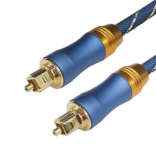 Acreny 5.1 digitale geluid SPDIF Toslink optische audio kabel gevlochten Fiber Connector Adapter