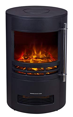 HEATSURE Electric Log Burner | Steel Flame Effect 3D Heater | Vintage Cast Iron...