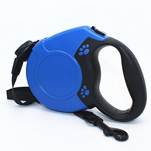 Pugga Hundeleine Roll-Leine Training M-L Gurt für Hunde bis zu 80kg Länge 8m. (Blau)