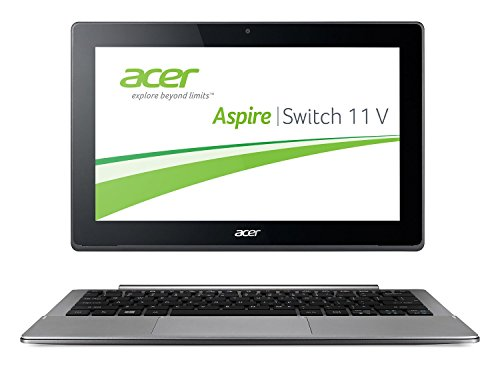 Acer Aspire Switch 11 V (SW5-173) 29,5 cm (11,6 Zoll Full HD IPS) Convertible Notebook (Intel Core M-5Y10c, 4GB, 128GB SSD + 500GB HDD, Intel HD Graphics 5300, Win 10 Home, Multi-Touch) silber