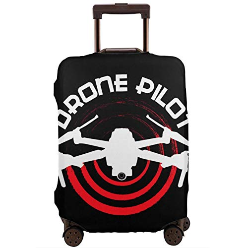 Luggage Cover Drone Pilot Travel Suitcase Protector Zipper Suitcase Cover Washable Fashion Printing Luggage Cover Zipper Travel Suitcase Protector