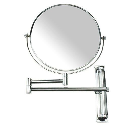 LANSI 10x Magnifying Wall Mounted Makeup Mirror,10X Magnification Makeup Mirror Adjustable Height -