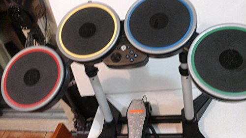 Nintendo Wii Rock Band 2 Wireless Drum Set with Pedal, Stand and Dongle