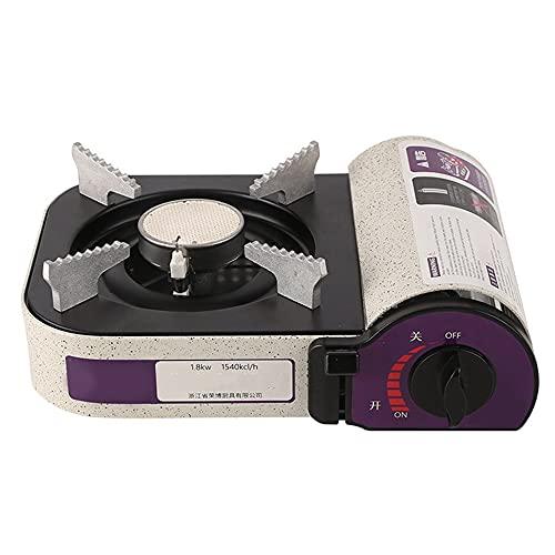 SMDMM 1800W Mini Cassette Parrilla Cocine Estufa Al Aire Libre Portátil Al Aire Libre Camping Picnic Butano Estufa de Gas Horno Quemador