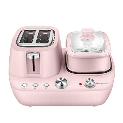 XinMeiMaoYi Tostadora de Acero Inoxidable 304, sartén para cocinar al Vapor con 7 Controles de Dorado, máquina para Hacer sándwiches de Relleno Profundo, máquina para Hacer Helados (Color: Rosa)