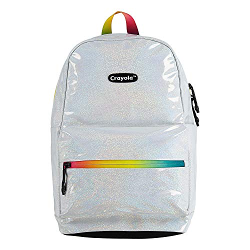 Crayola Children's Apparel Kids' Toddler Classic Logo Backpack, White/Jazzberry jam, 2-3 Years Old