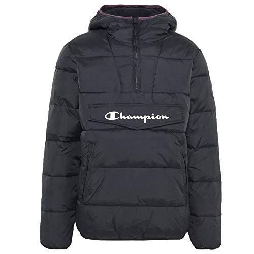 Champion Hooded Jacket Windbreaker Herren Jacke Überzieher Winterjacke schwarz (L)