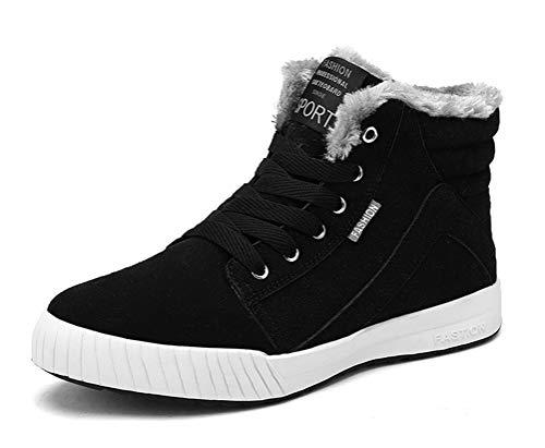 CCZZ heren warm gevoerde winterlaarzen outdoor sneeuwlaarzen laarzen hoge sneaker winterschoenen snoeren sportschoenen vrijetijdsschoenen maat 39-48