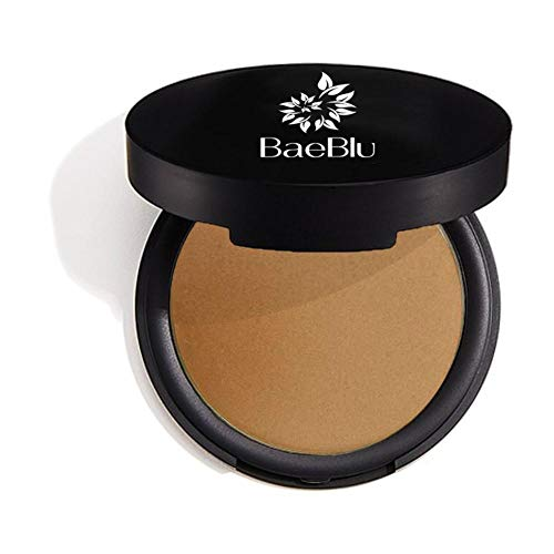 BaeBlu Organic Bronzer 100% Natural Matte Pressed Powder, Made in USA, Touch of Sun