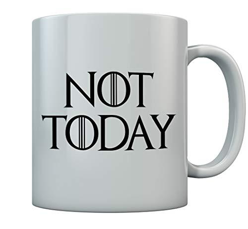 Not Today - GOT - Non Oggi - Finale stagione dei Troni Tazza in ceramica 11 Oz. Bianco