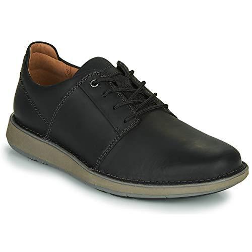 Clarks Un Larviklace2 Derby Zapatos & Brogue Zapatos Hombres Negro Derby Zapatos, negro (Negro), 44 EU