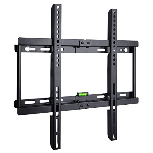 BPS TV Wandhalterung Ultra Slim Flach Wandhalter universell passend für alle Fernseher und Monitor mit 32-55 Zoll (81-140cm), VESA/Lochabstand 100 x100-400x400, Kapazität 95kg, Wandabstand nur 3,5cm