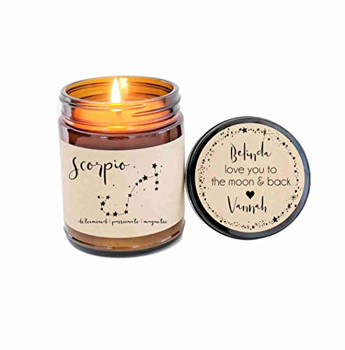 Scorpio Zodiac Candle Zodiac Gifts Birthday Gift Birthday Candle Personalized Soy Candle Scorpio Gift Star Candle Star Sign Gift for Her