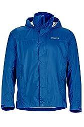 professional Marmot PreCip Lightweight Waterproof Waterproof Jacket Sapphire Blue Medium Men's