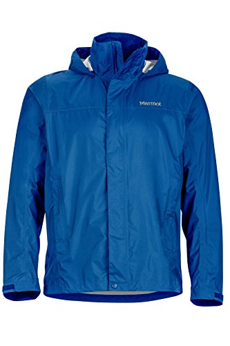 Marmot Men's PreCip Lightweight Waterproof Rain Jacket,Blue Sapphire,Large