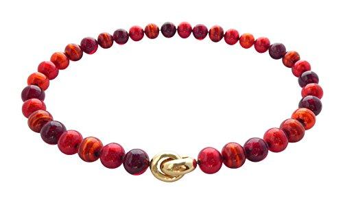 Murano-Kette Perlen Handarbeit echtes Murano-Glas Klapp-Schließe Sterling-Silber gold-plattiert 585 Goldschmiede-Arbeit kostbar stilvoll