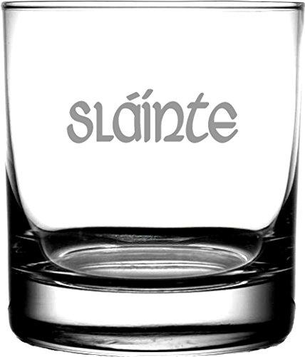 Slainte Irish Celtic Gaelic Toast   Rocks Whiskey Glass Highlander Outlander Fans   Irish Scottish Gifting Weddings Anniversary Housewarming Birthday   Men or Women