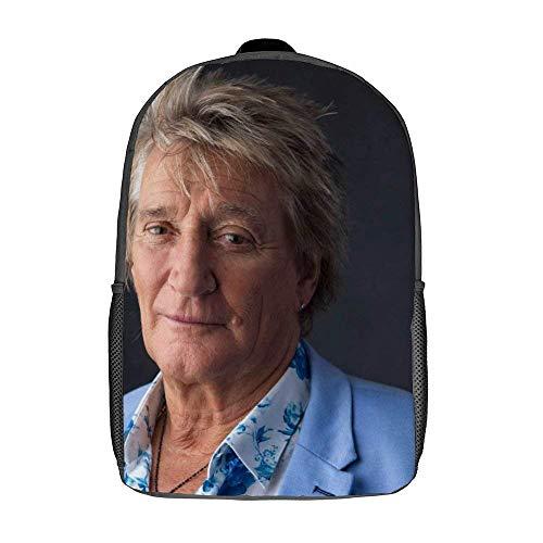 QUEMIN Rod Stewart Bolsos de hombro Mochila escolar ligera Mochila de viaje para portátil de 15 pulgadas Bolso Dzc de 17 pulgadas