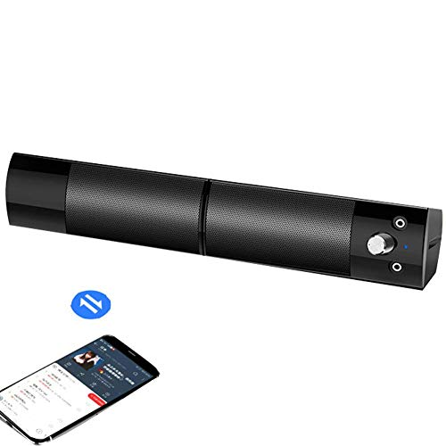 Sound Bar voor TV2.0, Soundbar met ingebouwde subwoofer, Wired & Wireless Bluetooth 5.0 Speaker voor TV, HDMI/Optical/AUX/USB-ingang, Afneembare, Surround Sound System voor TV