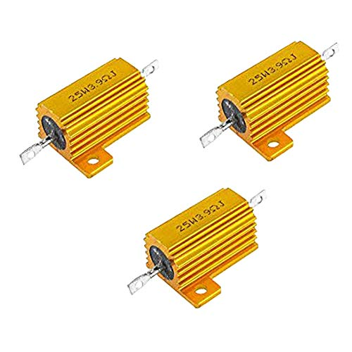 Yohii 25W 3.9 Ohm Chassis Mounted Wirewound Resistor 3pcs